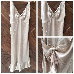 Arden B champagne silk dress size M